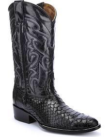 Circle G Python Cowboy Boots - Round Toe