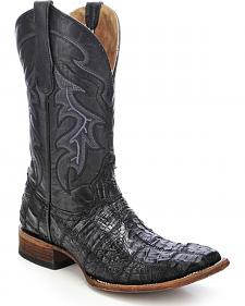 Circle G Caiman Patchwork Cowboy Boots - Square Toe
