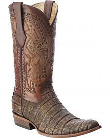 Corral Alligator Cowboy Boots - Round Toe