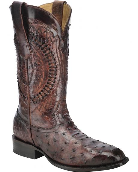Corral Full-Quill Ostrich Skin Cowboy Boots - Square Toe