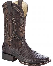 Corral Men's Caiman Cowboy Boots - Wide Square Toe
