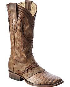 Corral Caiman Cowboy Boots - Square Toe