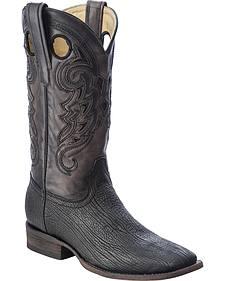 Corral Shark Vamp Cowboy Boots - Square Toe