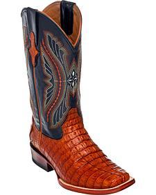Ferrini Caiman Tail Exotic Cowboy Boots - Square Toe