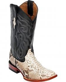 Ferrini Men's Python Cowboy Boots - Square Toe