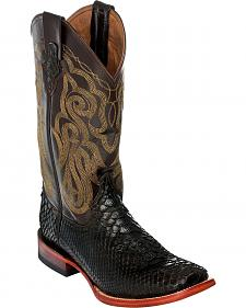 Ferrini Men's Python Cowboy Boots - Square Toe