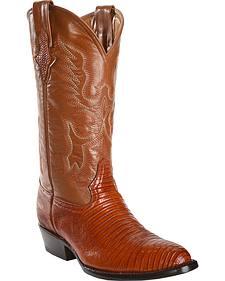 Ferrini Men's Teju Lizard Cowboy Boots - Round Toe