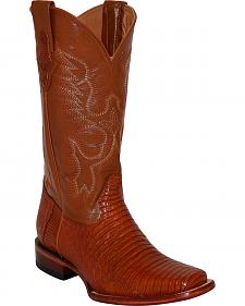 Ferrini Men's Lizard Cowboy Boots - Square Toe
