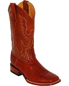 Ferrini Men's Teju Lizard Exotic Western Boots - Square Toe