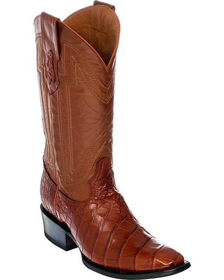 Ferrini Alligator Belly Exotic Cowboy Boots - Square Toe