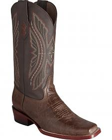 Ferrini Men's Brown Kangaroo Western Boots - Square Toe