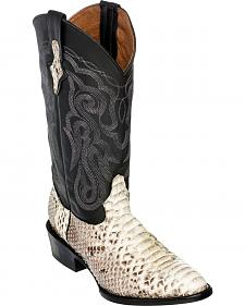 Ferrini Men's Python Exotic Western Boots - Round Toe
