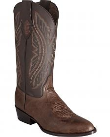 Ferrini Men's Brown Kangaroo Western Boots - Round Toe