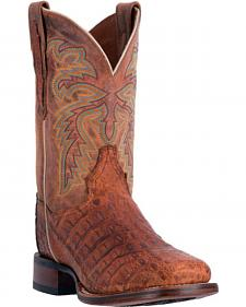 Dan Post Denver Caiman Cowboy Boots - Square Toe