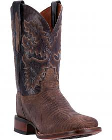 Dan Post Hurst Lizard Cowboy Boots - Square Toe