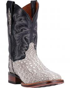 Dan Post Denver Silver Caiman Cowboy Boots - Square Toe