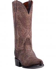 Dan Post Men's Durham Teju Lizard Cowboy Boots - Square Toe