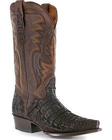 El Dorado Caiman Cowboy Boots - Snip Toe