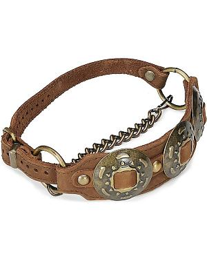 Concho Leather Boot Strap