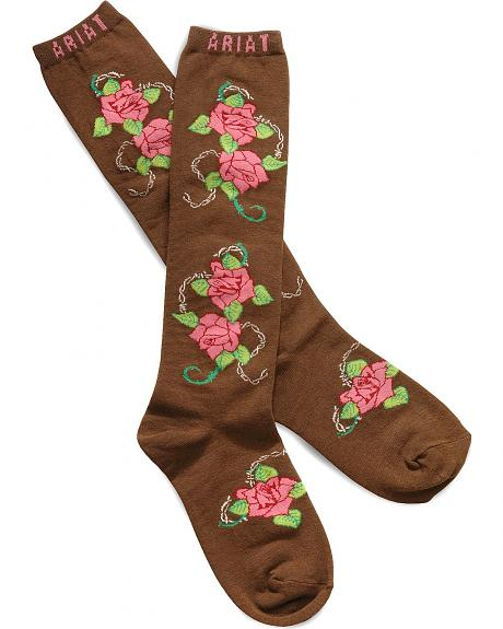 Ariat Rose Knee High Socks