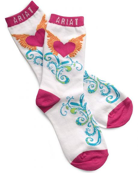 Ariat Winged Heart Ankle Socks