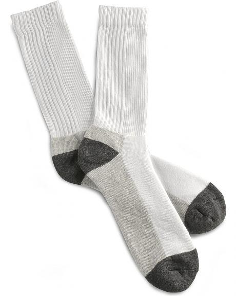 Justin JOW Steel Toe Crew Socks - 2 Pack