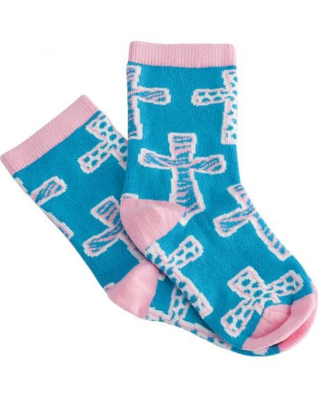 Justin Keep It Gypsy Girls' Cross Socks