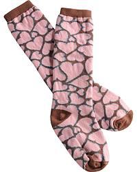 Justin Keep It Gypsy Girls' Pink Hearts Socks at Sheplers