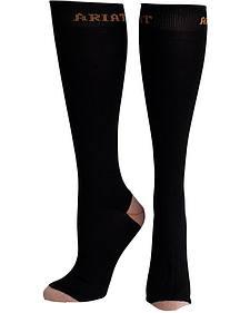 Ariat Women's Black Sport Slim Socks