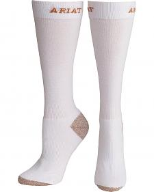 Ariat Men's White Sport Slim Socks