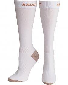 Ariat Women's White Sport Slim Socks