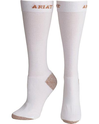 Mens White Heavy Duty Sport Socks Western & Country A10002609