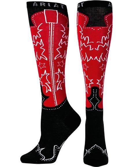 Ariat Women's Knee High Western Boot Socks