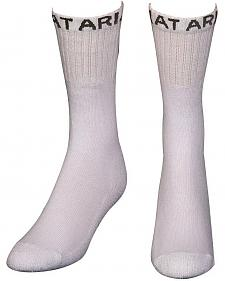 Ariat Men's Regular White Boot Socks