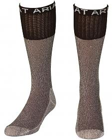 Ariat Men's Regular Brown Boot Socks