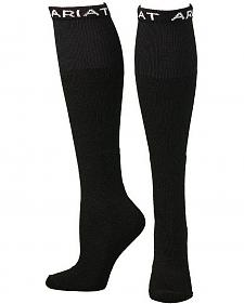 Ariat Men's Over the Calf Black Boot Socks - 2 Pack