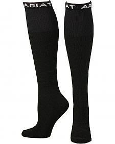Ariat Men's Over the Calf Black Boot Socks