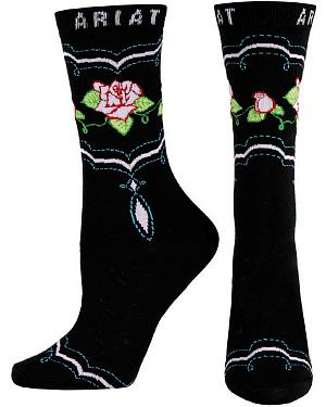 Ariat Rose Crew Socks