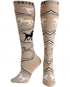Ariat Spirit Horse Knee High Socks