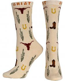 Ariat Western Icon Crew Socks