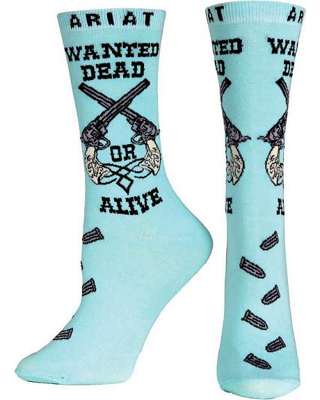 Ariat Wanted Dead or Alive Crew Socks