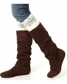 Darby's Lacie Lace Knee-High Boot Socks
