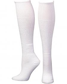 Boot Doctor Men's Over the Calf White Boot Sock