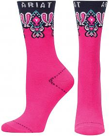Ariat Women's Paisley Crew Socks