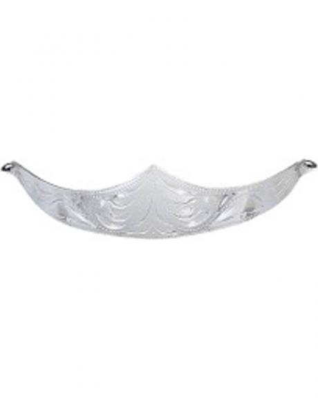 M&F Western Silver Hand Engraved Heel Cap