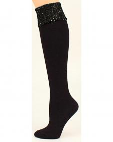 Blazin Roxx Knee High Sequin Stacked Socks