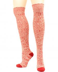 Ariat Women's Above the Knee Marbled Knit OSFA Socks