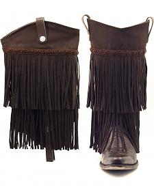 BootRoxx Brown Fringe Boot Covers