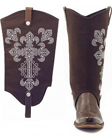 BootRoxx Hope Chocolate Boot Covers
