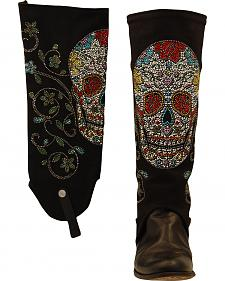 BootRoxx Sugar Skull Equestrian Boot Covers